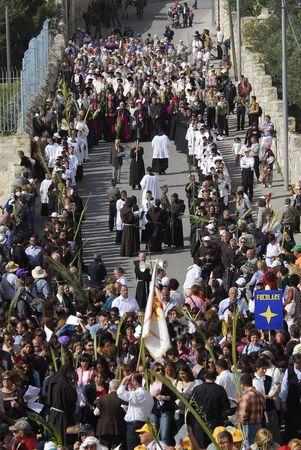 christianity palm sunday: Palm Sunday in the Jerusalem