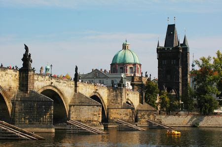 Prague with the Charles bridge photo