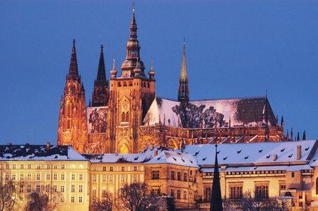 winder: Winder Prague historical buildings in night