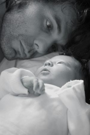 nursling: A baby with its daddy