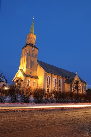 ecclesiastical: The cathedral in Norwegian town Tromso.