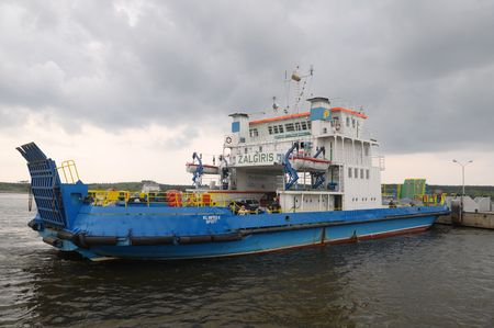 briny: The ferry on teh sea in Lietuva.