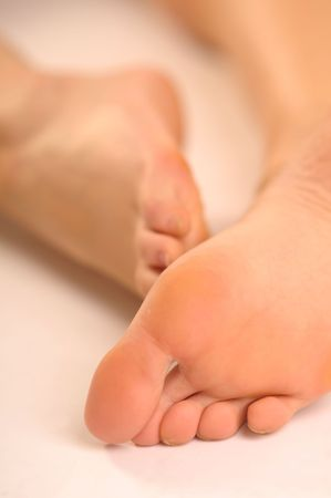 joyousness: The detail of sole of the foot.