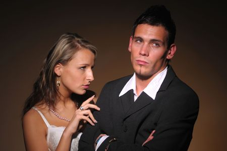 foundation problems: The altercation of the two young attractive people.