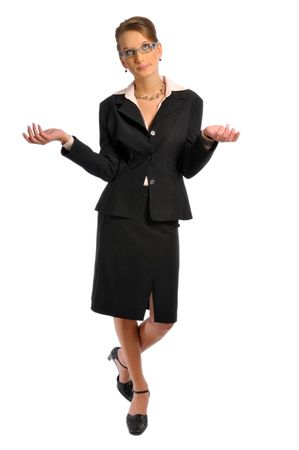 The attractive business woman in formal clothes Stock Photo - 6362086