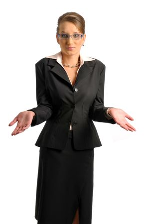 The attractive business woman in formal clothes photo