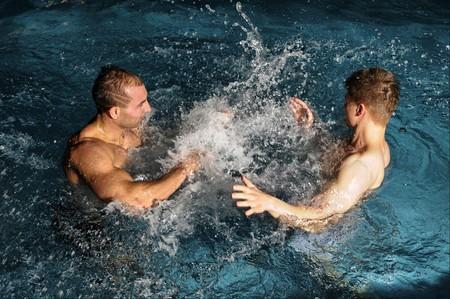 beefcake: The young beautiful men in swimming pool
