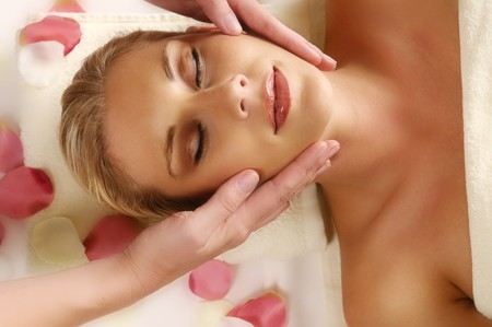 woman lying on the massage Stock Photo - 7714104