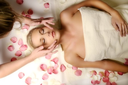 woman lying on the massage Stock Photo - 7714230