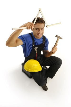 Worker with tools photo