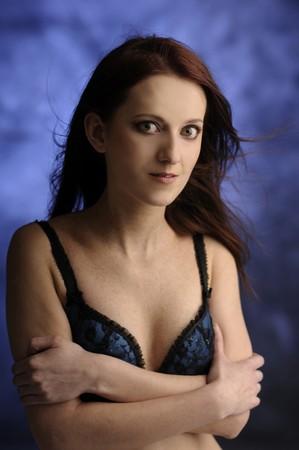 sexy bra: girl in sexy bra Stock Photo