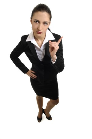 Strictly appears  businesswoman Stock Photo - 9141751