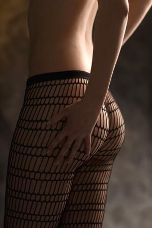 jeune fille en bas de nylon sexi Banque d'images - 8011105