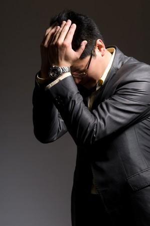 Unhappy businessman Stock Photo - 8342271