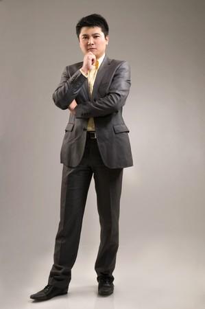 poise: Thinking businessman