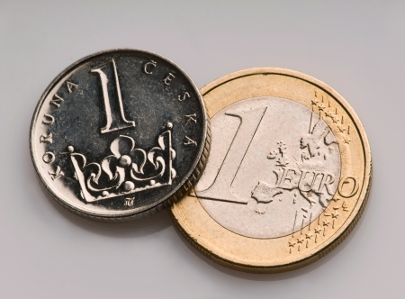 Czech and European currency photo