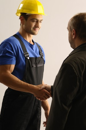 Two men shaking hands Stock Photo - 8342262