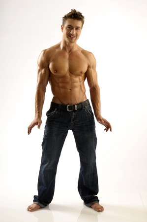 A young man with muscles Stock Photo - 8086018