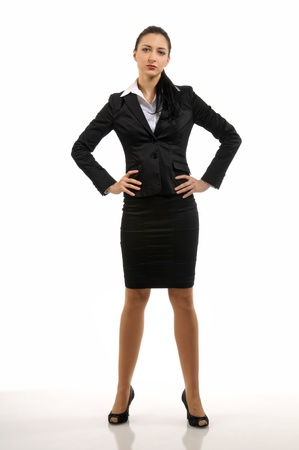 formal dress: An Attractive young iritated businesswoman Stock Photo