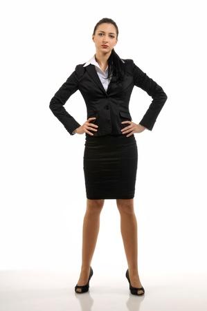 An Attractive young iritated businesswoman Standard-Bild
