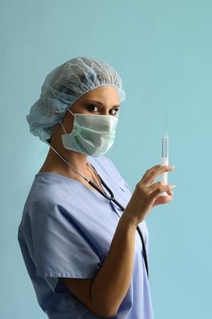 Portrait of young nurse photo