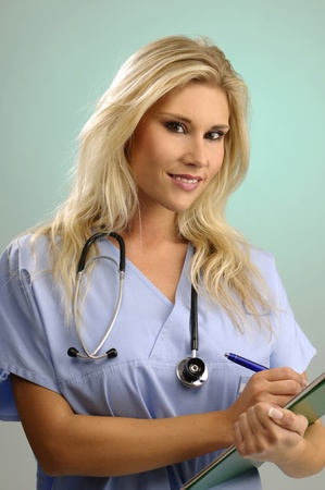 Portrait of blondie nurse photo