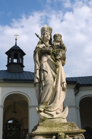 Ghotic statue of the Virgin Mary in Krtiny near Brno photo