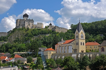 View at Trencin city in Slovakia Stock Photo