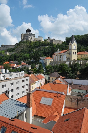 View at Trencin city in Slovakia photo