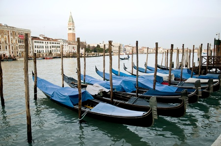 Picture of gondolas parking in the harbour Stock Photo - 10912596
