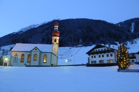 Picture of Gries church during Christmas photo
