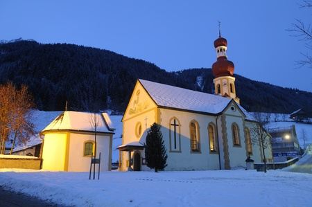 Picture of Gries church in wintertime photo