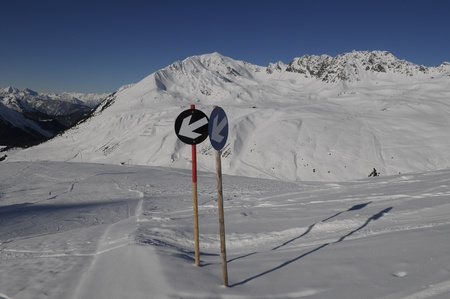 moutains: Ski sign directions in the Austria moutains