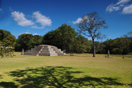 Tempel der Struktur 4 in der Copan Ruinas