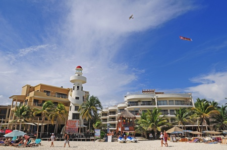 del: Beach resort of Playa del Carmen in Mexico