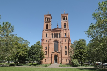 St.Thomas evangelische kerk Stockfoto