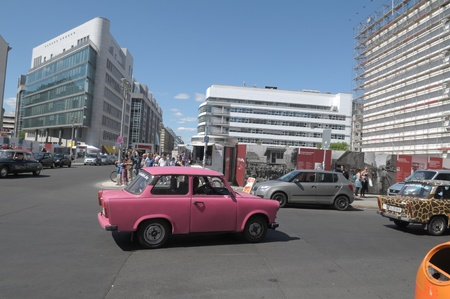 Pink trabant in Berlin