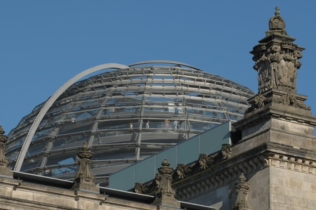 copule: Glass Dome Of The German Parliament Reichstag in Berlin