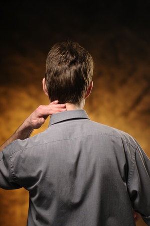 Man in shirt from beind Stock Photo - 11012563