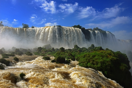 Iguazu waterfall, brazil photo