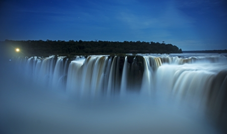 iguazu falls by night Stock Photo