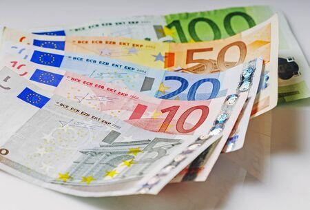 EURO - european union paper banknote cash money 写真素材