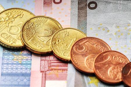 EURO - european union coins set cash money 写真素材