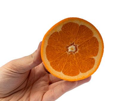 Orange isolated on white background Fresh juice and fruit concept
