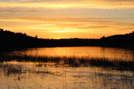 mantrap: Sunset over Mantrap Lake