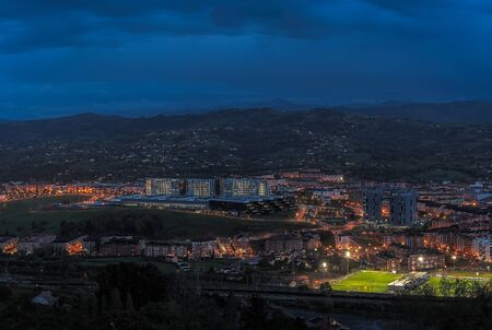 Night photography of Oviedo from the skirt of the naranco mountain