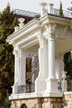 city pushkin: Historic building on Pushkin alley in the city of Yalta. It is a landmark of the city, open to the public at any time. Crimea. Ukraine. Russia