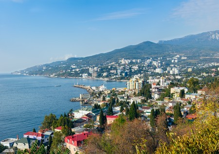 Beautiful sea landscape. Yalta. Crimea. Ukraine. Russia