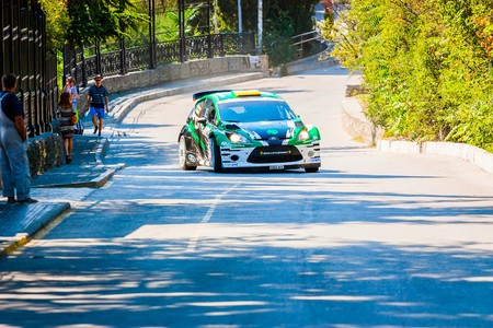 irc: YALTA, UKRAINE - SEPTEMBER 14: Yuriyi Protasov drives his Ford Fiesta.2012