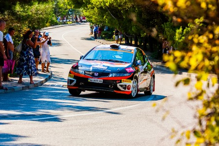 irc: YALTA, UKRAINE - SEPTEMBER 14: Volodymyr Pechenik drives his Honda.2012